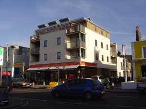Mixed Use, Front Elevation, Bedford Road, London